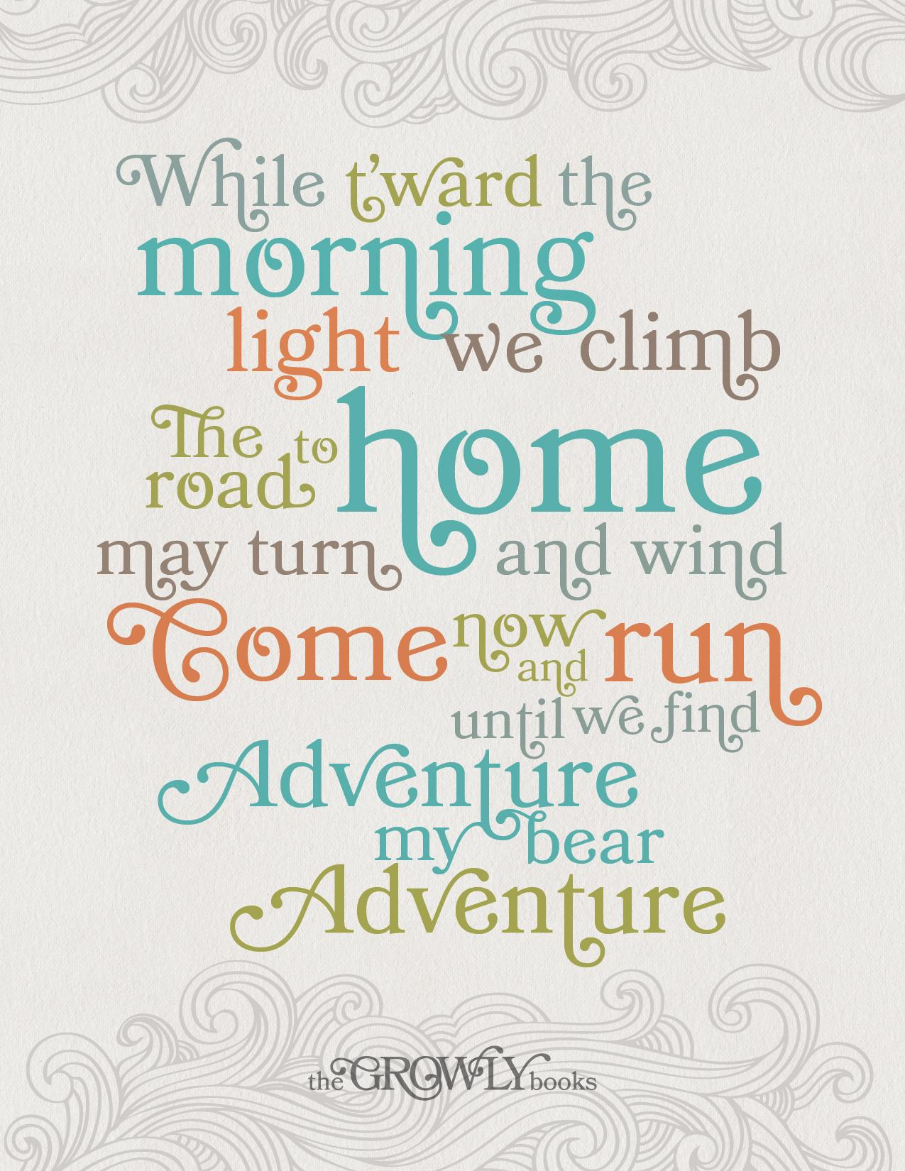 The Growly Books - Adventure My Bear Printable